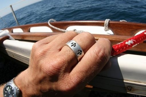 Custom Made Anchor Band Ring