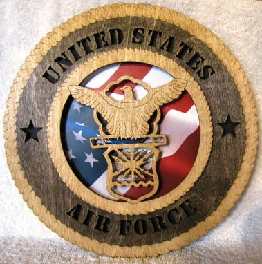 Custom Made Air Force Wall Plaque