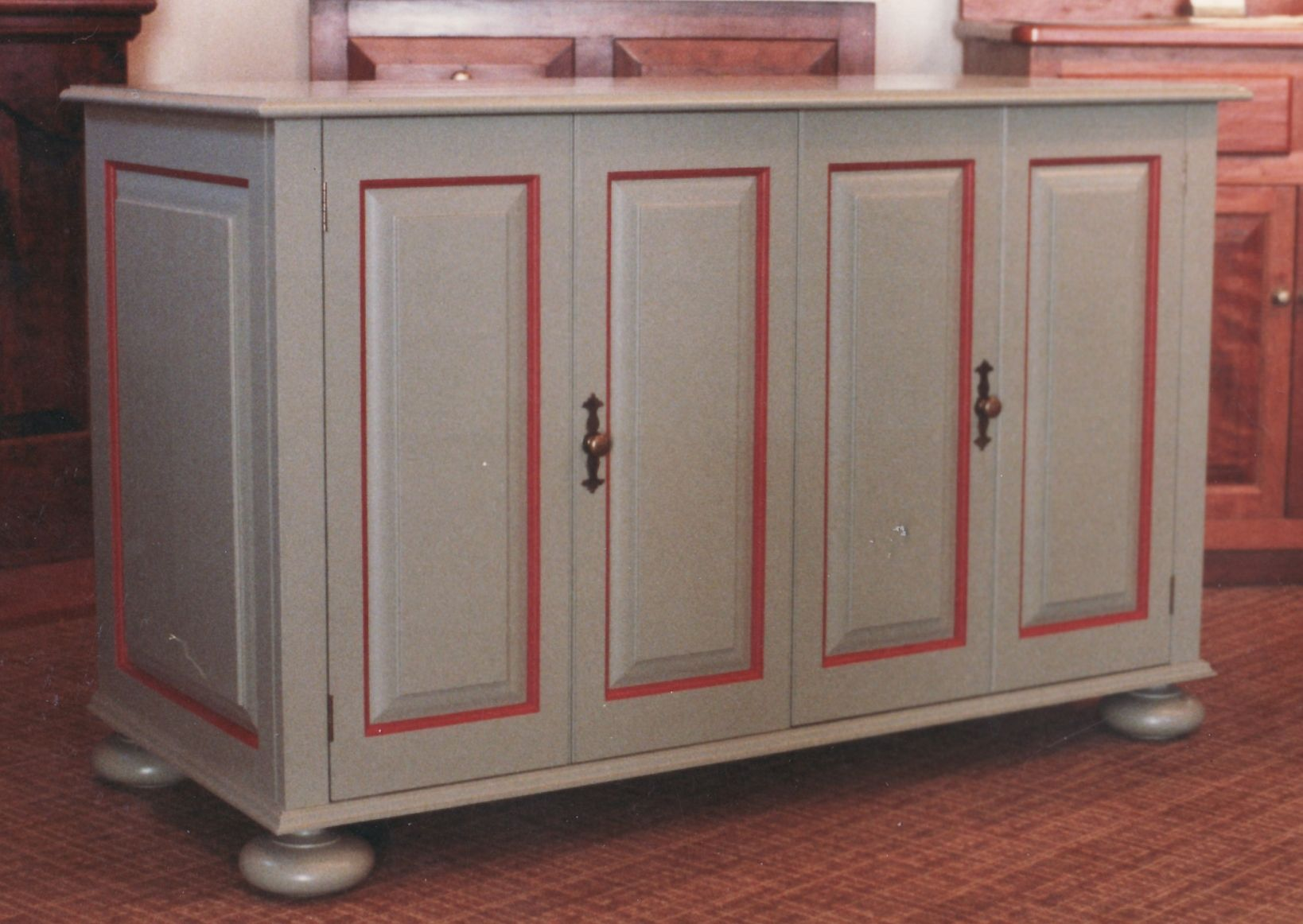 Custom Made Accent Painted Tv Cabinet by Gene Lyman - Cabinetmaker ...