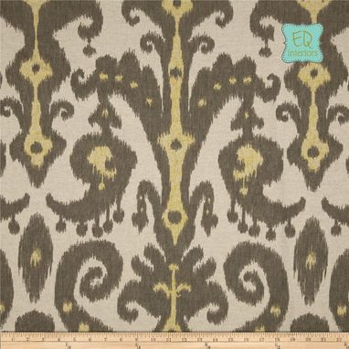 "Custom Made Custom Designer Curtain Panels Lacefield Marrakesh Ikat Batik Graphite Gray 72""L X 50""W"