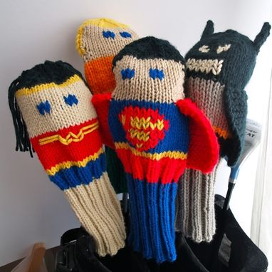 Custom Made Wonder Woman Justice League Knit Golf Club Cover