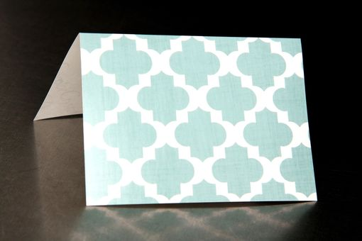 Custom Made Wedding Place Cards - Moroccan Pattern - Escort Cards Favor Tags Custom Designed