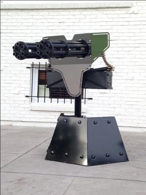 Custom Made Gatling Gun Lawn Art (Non Firing)