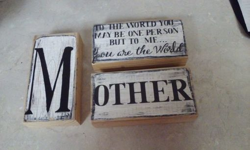 Custom Made Mother Blocks!
