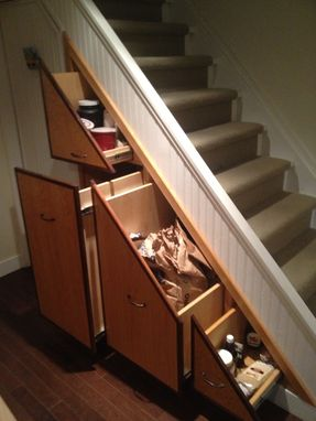 Custom Made Under Stair Pantry