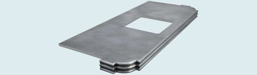 Custom Made Zinc Countertop With Scroll Corners & French Edge