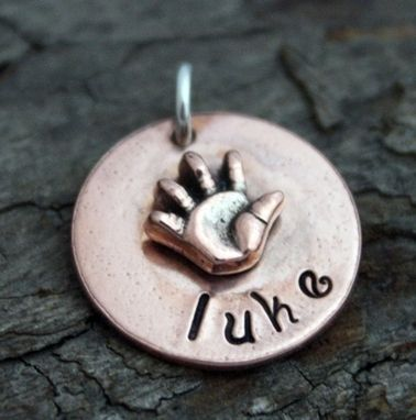 Custom Made Copper Baby Hand Charm