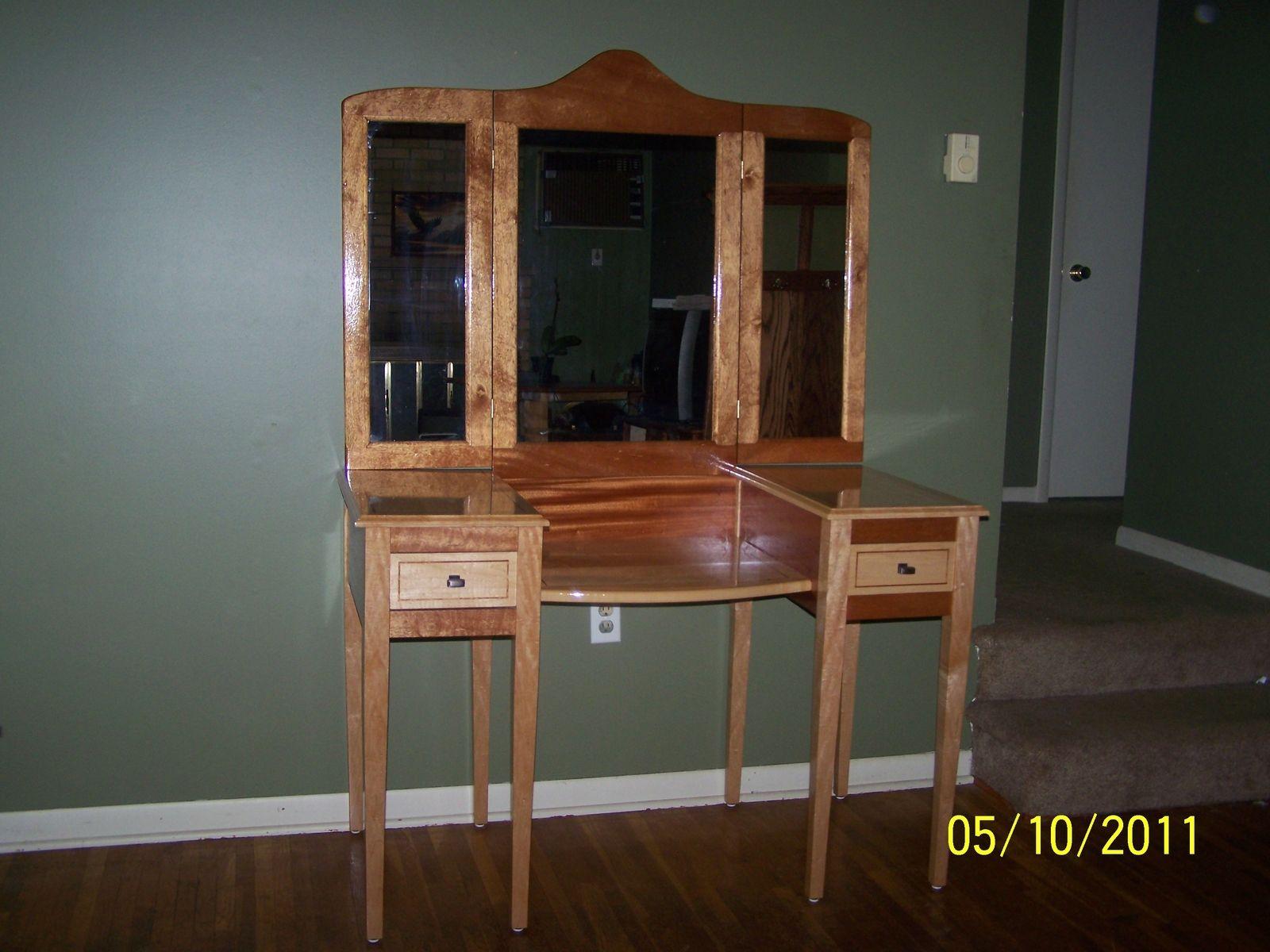 Hand Made Vanity Dressing Table By Bob Peters Custom