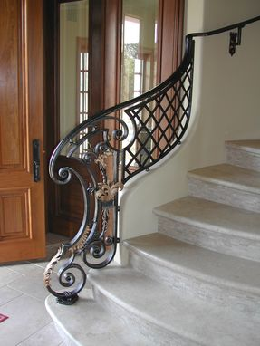 Custom Made Louis Xiv Style Stair Railing Newel