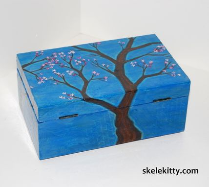 Custom Made Large Decorative Art Box - Great For Trinkets Or Jewelry