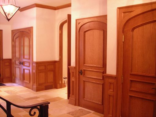 Custom Made Arched White Oak Doors