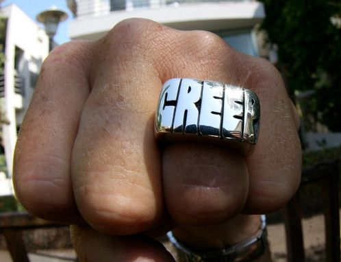 Custom Made Creep Men's Ring In Sterling Silver