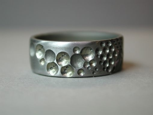 Custom Made Titanium Wedding Ring With Bubbles
