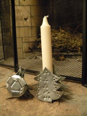 Custom Made Christmas Tree Candlestick Holder