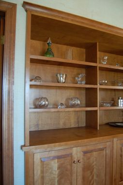Custom Made Built-In Birch Cabinets