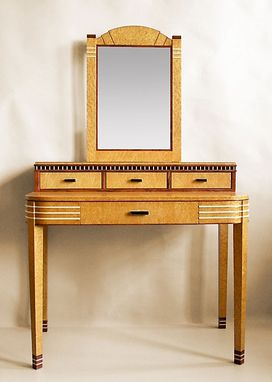 Custom Made Art Deco Vanity With Mirror