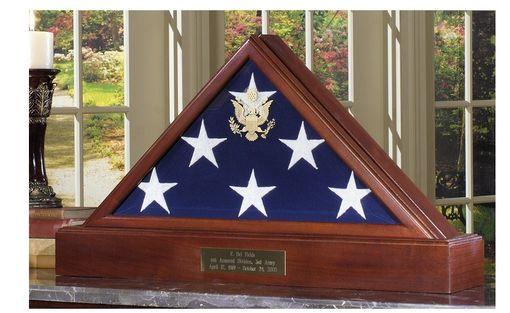 Custom Made Large Flag Display Case For 5 X 9.5 Flag - Burial Flag