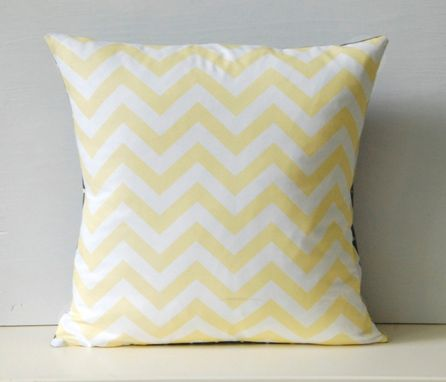 Custom Made Pale Yellow Chevron And Polka Dots