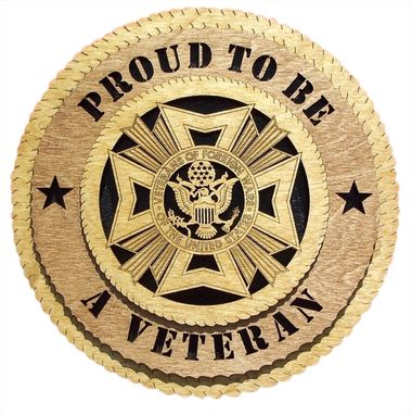Custom Made Proud To Be A Veteran Wall Tribute, Proud To Be A Veteran Hand Made Gift