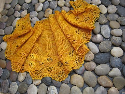 Custom Made Hand Knitted Pure Silk Shawl