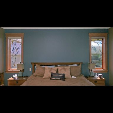 Custom Made Bedroom Windows, Stained Glass