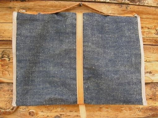 Custom Made Laptop Case Blue Denim