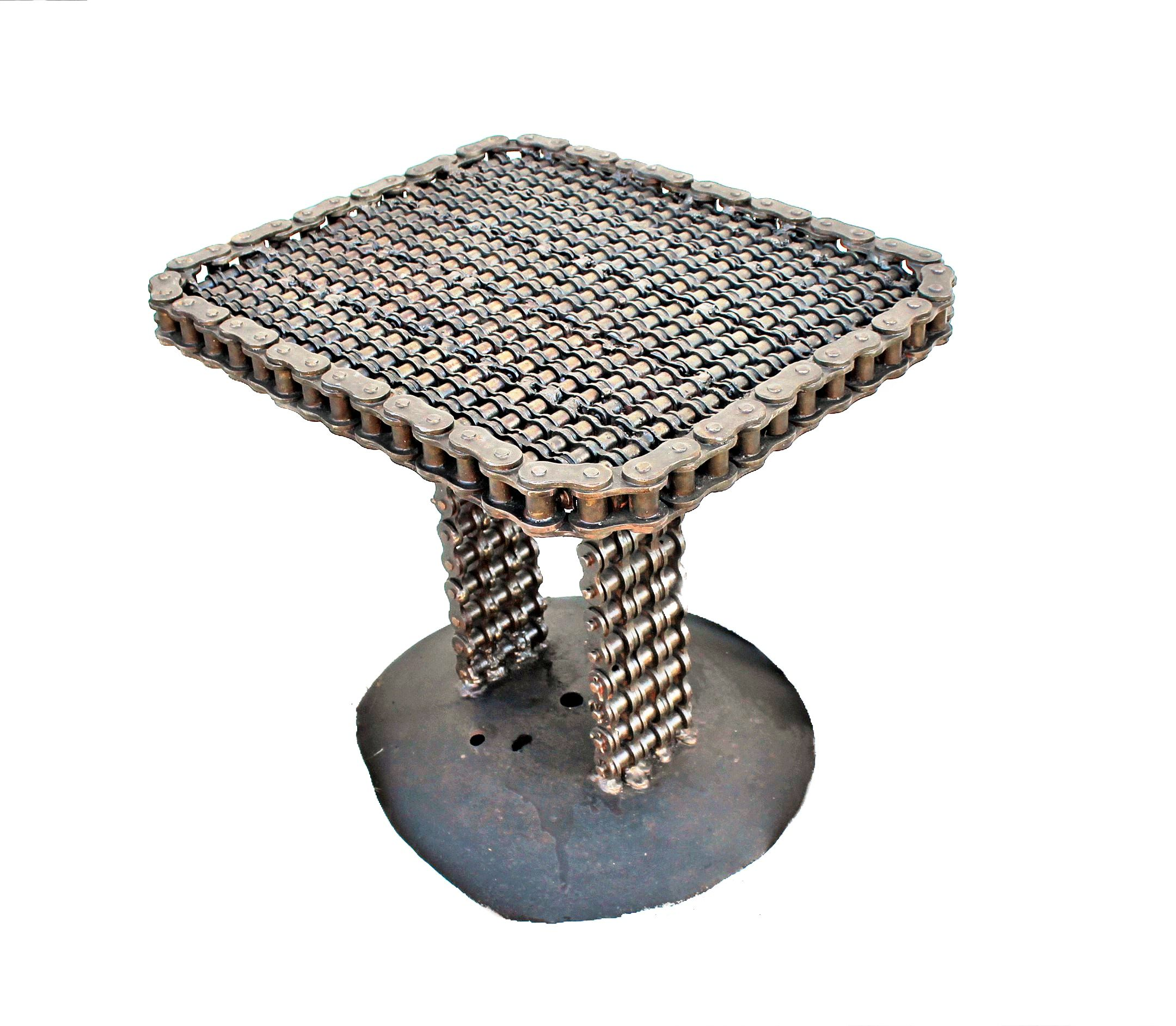 Buy a Custom Chain Art End Table Chain Art Furniture made to
