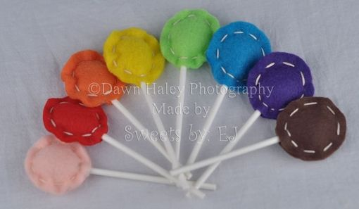 "Custom Made Eight Multi-Colored Felt Lollipops ""Sweet Cheeks Suckers''"