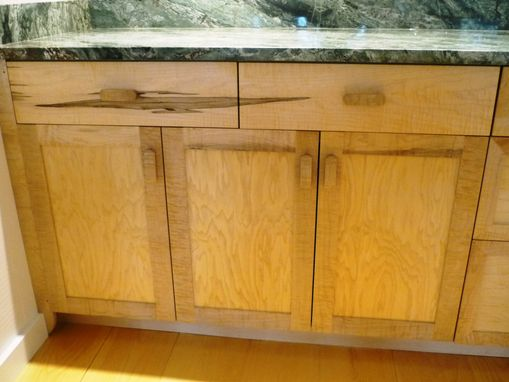 Custom Made Curly Maple Kitchen