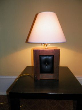 Custom Made Reclaimed Wood And Upholstered Lamps