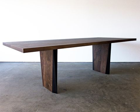 Custom Made Banks Walnut + Steel Dining Table