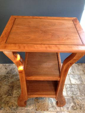 Custom Made Tall & Shapely Twins; Cherry Bedside Tables