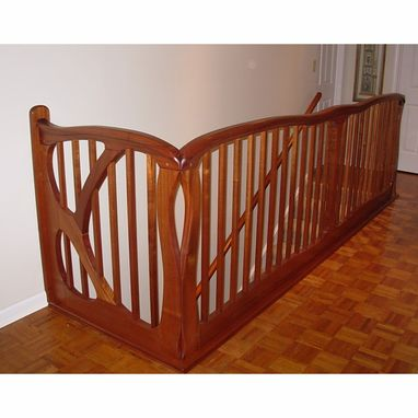 Custom Made Art Nouveau Stair Railing