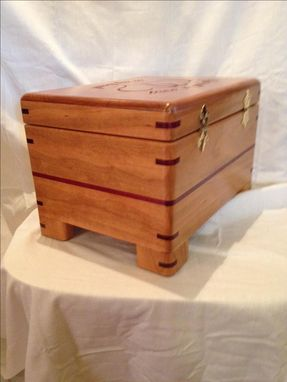 Custom Made Cherry Wood Jewelry Box