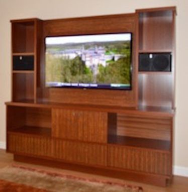 Custom Made Marquette Tv/Storage Display