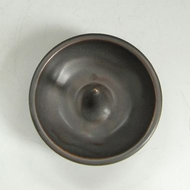 Custom Made Ceramic Ring Holder In Dark Brown