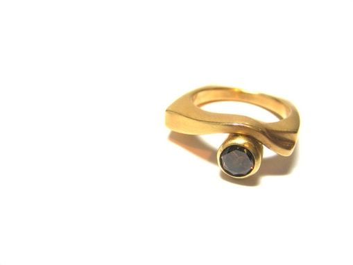 Custom Made Cognac Diamond In14k Yellow Gold Ring