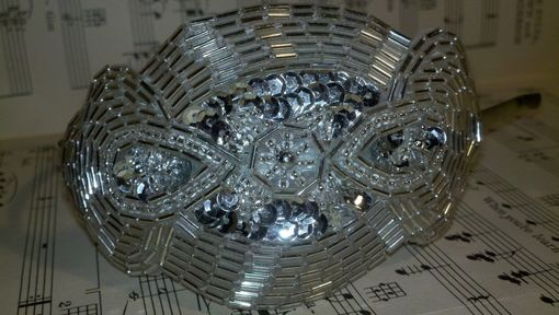 Custom Made Sale Vintage Inspired Dazzling Silver And White Bridal Headband
