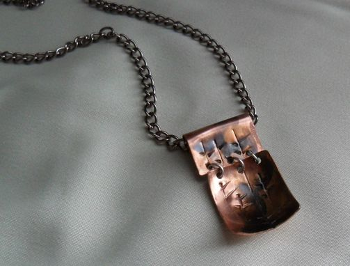 Custom Made Rolled Dome-Shaped Copper Necklace