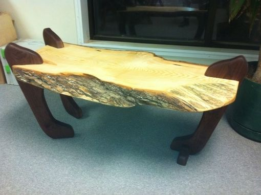 Custom Made Ash And Walnut Coffee Table