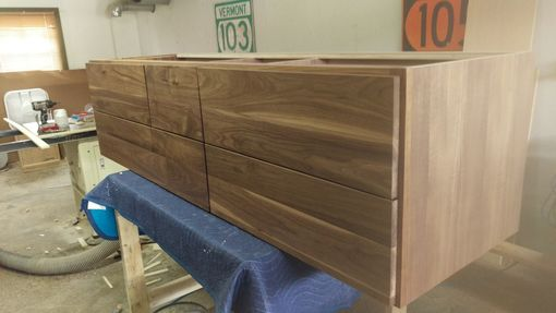Custom Made Free Standing Walnut Vanity