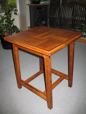 Custom Made Teak End Table