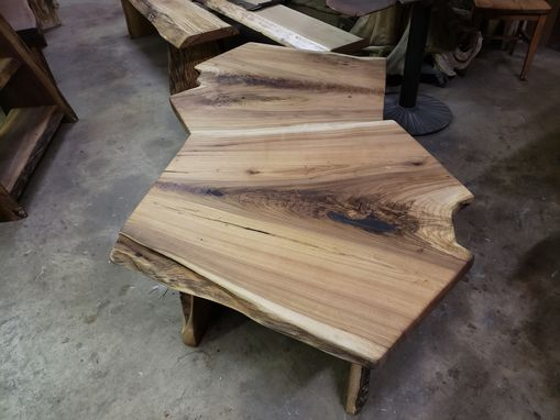 Custom Made Butternut End Table Coffee Table Or Bench Wide Crotch Grain Very Rare