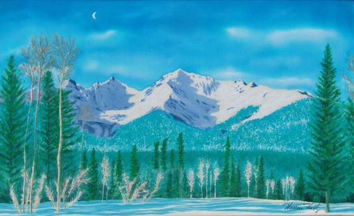 Custom Made Silk Mountain Paintings