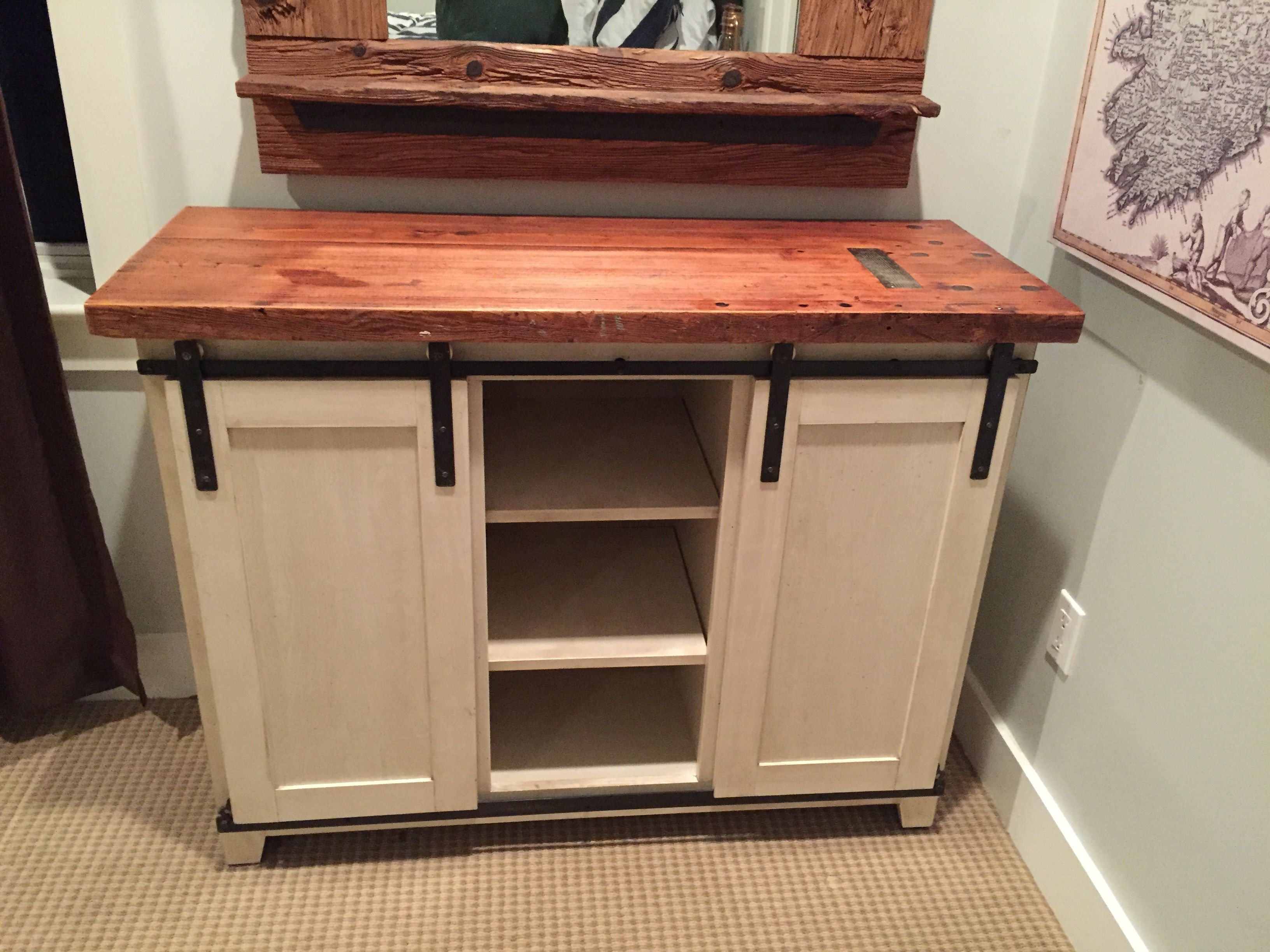 Hand Made Barn Door Dresser By M Karl Llc Custommade Com