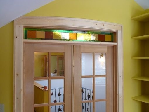 Custom Made Stained Glass Window Panel / Colorful And Contemporary (Tw-23)