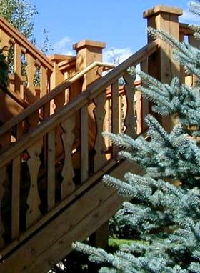 Custom Made Cedar Exterior Stairs And Railing
