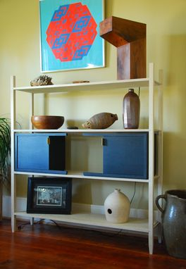 Custom Made Shelf With Movable Compartments