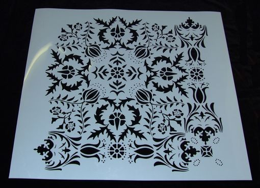 Handmade Large Damask Stencil 24 X 24 Inches Laser Cut