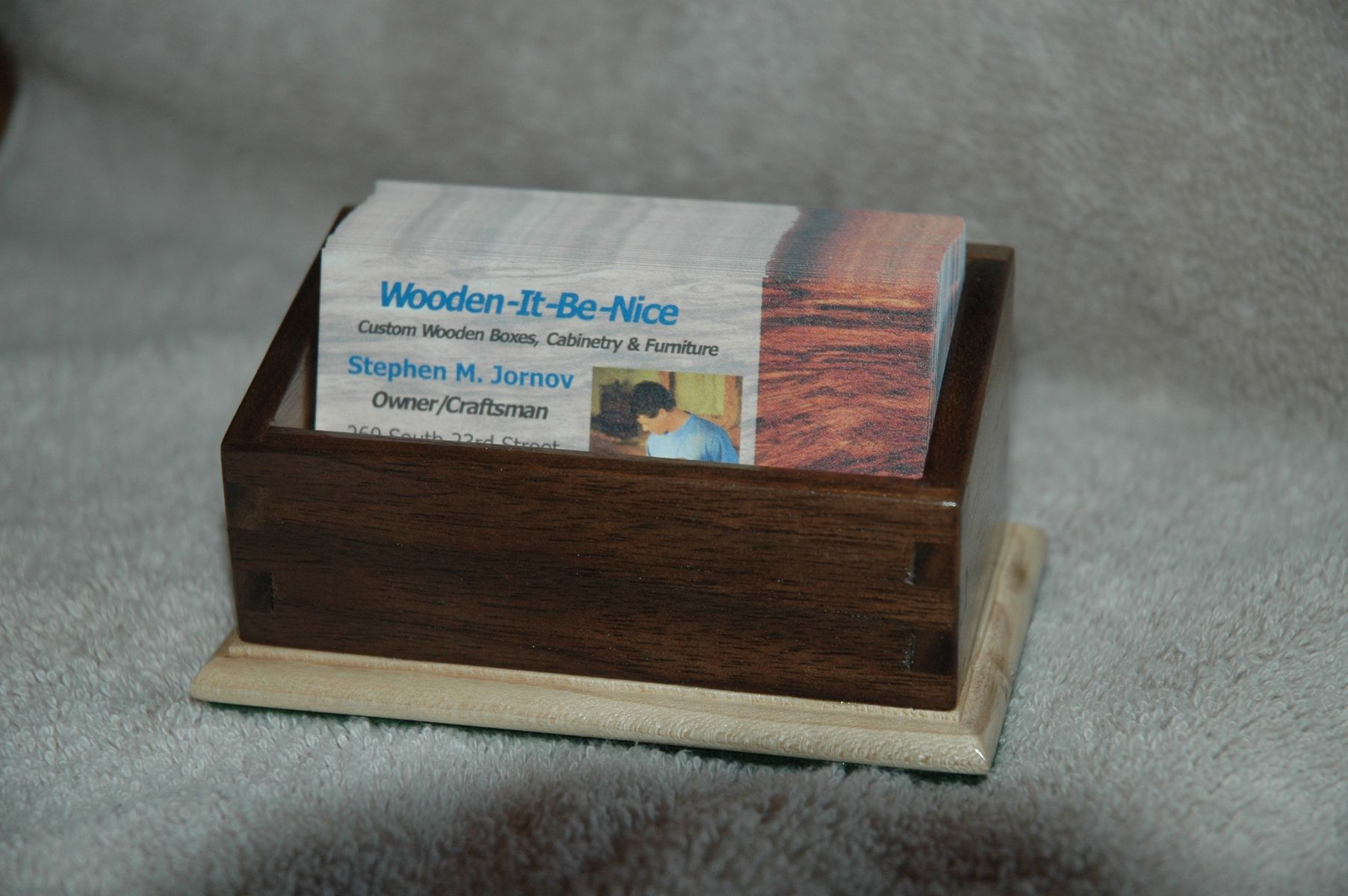 Handmade Business Card Holder by Wooden-It-Be-Nice | CustomMade.com